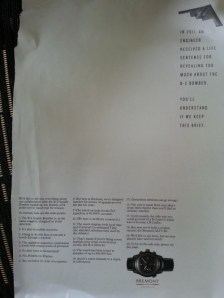 CLARUS copywriter + marketeer - Bremont ad